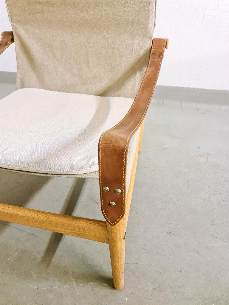 Midcentury Hans Olsen 'Antilope' Safari Lounge Chair, 1960s For Sale 1