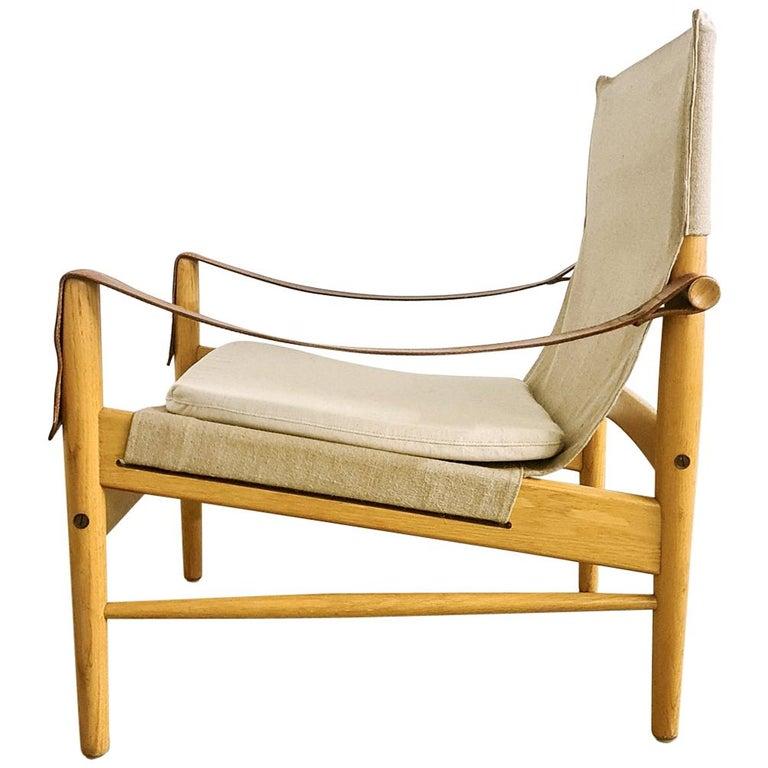 Midcentury Hans Olsen 'Antilope' Safari Lounge Chair, 1960s For Sale