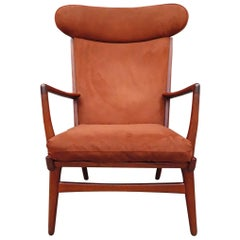 Midcentury Hans Wegner J. Lounge Chair Model AP-15