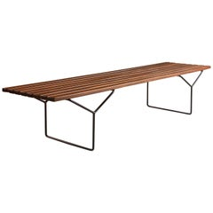 Midcentury Harry Bertoia Bench Coffee Table by Knoll, circa 1960s