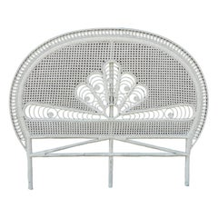 Midcentury Headboard US Queen UK King French Cane Wicker