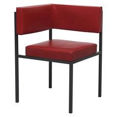 Midcentury Hein Stolle Attributed Red Skai Corner Chair