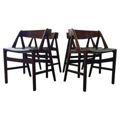 Midcentury Henning Kjærnulf 4Teak Dining Chairs