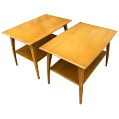 Midcentury Heywood Wakefield #1502 Maple Nightstands End Side Tables