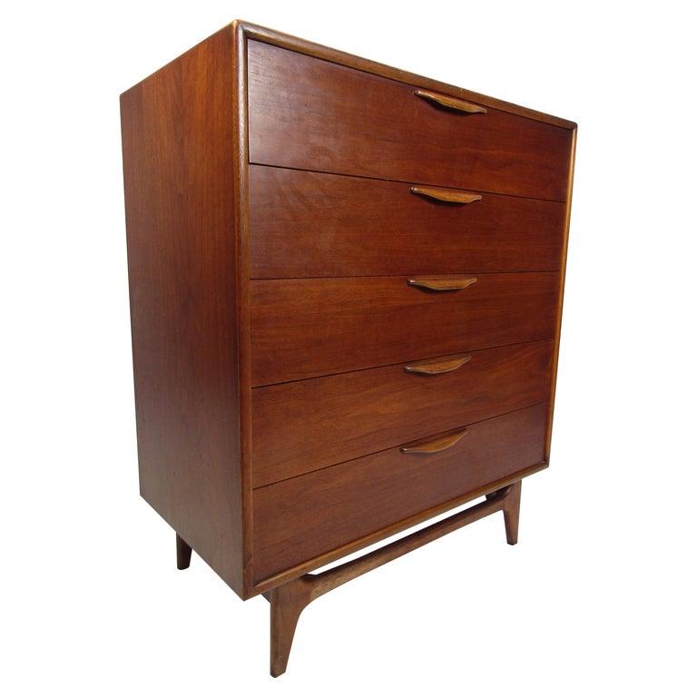 Midcentury Highboy Dresser by Lane For Sale