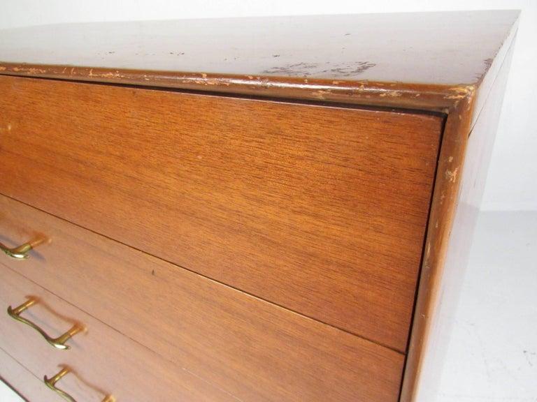 Brass Midcentury Highboy Dresser by R-Way