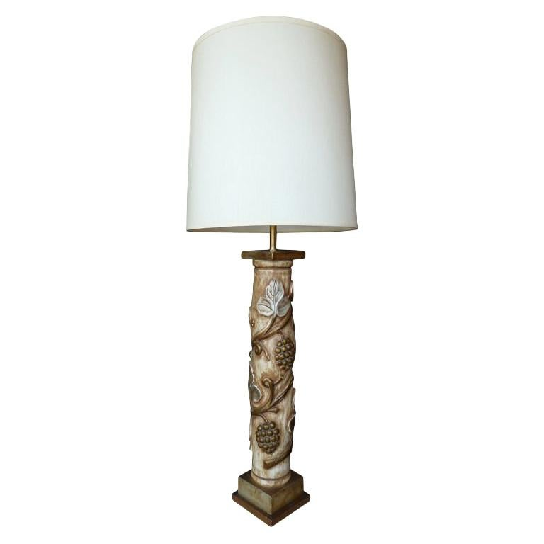 Midcentury Huge Table Lamp by James Mont