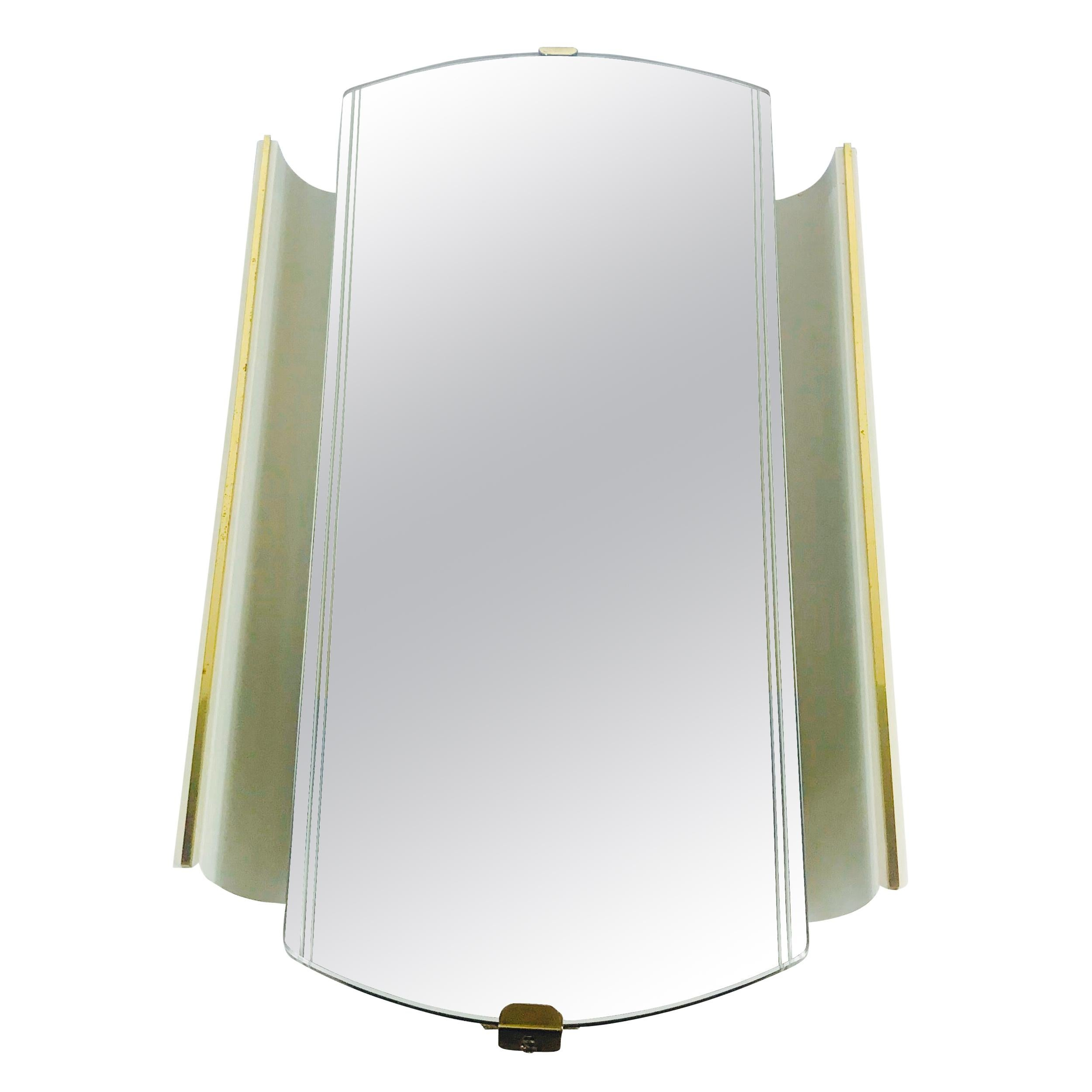 Midcentury Illuminated Mirror from Ernest Igl for Hillebrand Lighting, 1950s