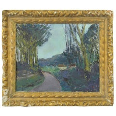 Midcentury Impressionist Painting of an English Landscape