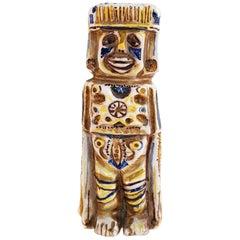"""Midcentury """"Inca"""" Ceramic Sculpture Italy"""