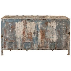 Midcentury Industrial Painted Metal Cabinet, Buffet