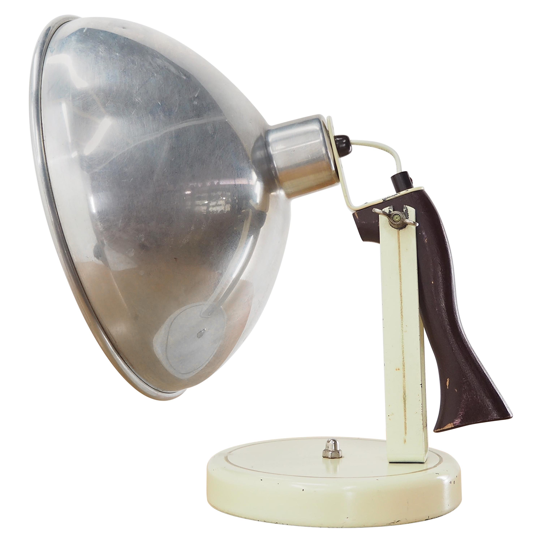 Midcentury Industrial Table or Hand Lamp, Czechoslovakia, 1960s