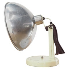 Midcentury Industrial Table or Hand Lamp, Czechoslovakia, 1960s