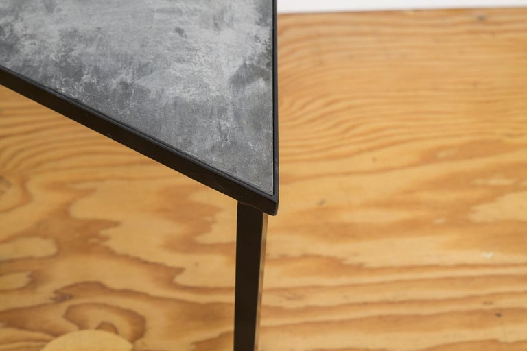 Powder-Coated Midcentury Inspired Slate Stacking Tables For Sale