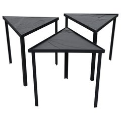 Midcentury Inspired Slate Stacking Tables