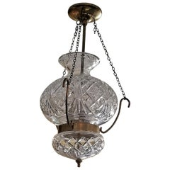 Midcentury Irish Waterford Crystal Traditional Style Chandelier