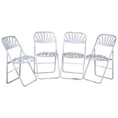 Midcentury Iron Folding Chairs
