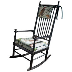 Midcentury 'Isabella' Rocking Chair by Karl-Axel Adolfsson, Black Ebonized