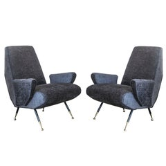 Midcentury Italian Arflex Chairs in the Style of Marco Zanuso