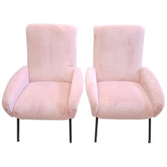 Midcentury Italian Armchairs in the Manner of Marco Zanuso