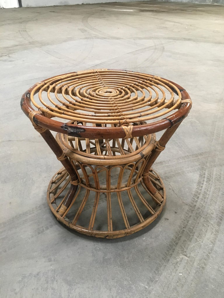 Midcentury Italian Bamboo and Rattan Living Room Set from 1950s 6