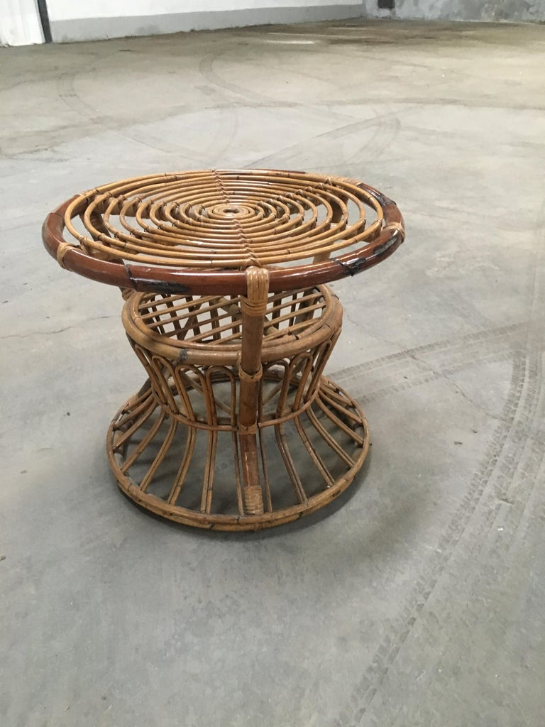 Midcentury Italian Bamboo and Rattan Living Room Set from 1950s 7