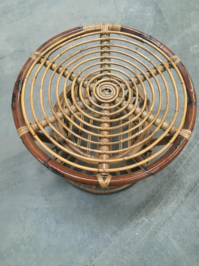 Midcentury Italian Bamboo and Rattan Living Room Set from 1950s 8