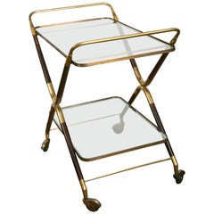 Midcentury Italian Bar Cart by Cesare Lacca