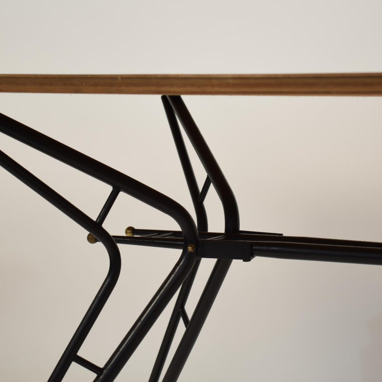 Midcentury Italian Black and White Dining Table Attributed to Ico Parisi, 1958 For Sale 3