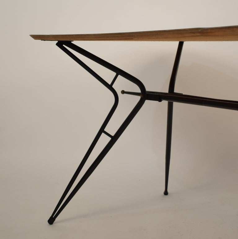 Midcentury Italian Black and White Dining Table Attributed to Ico Parisi, 1958 For Sale 5