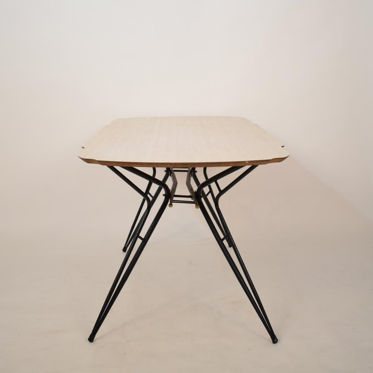 Midcentury Italian Black and White Dining Table Attributed to Ico Parisi, 1958 For Sale 6