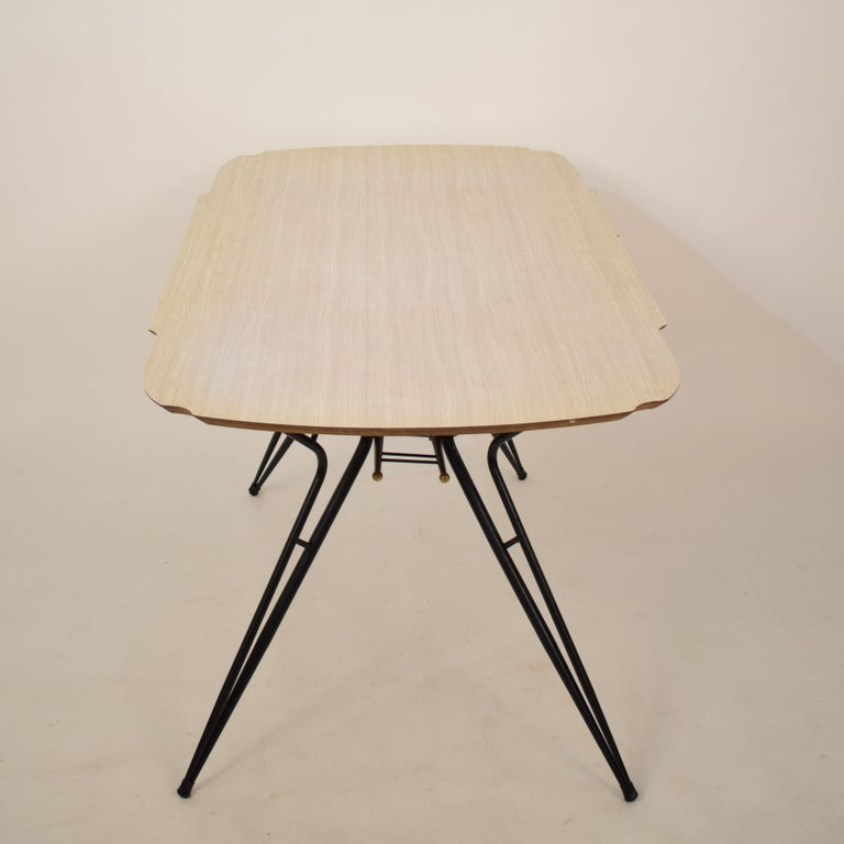 Midcentury Italian Black and White Dining Table Attributed to Ico Parisi, 1958 For Sale 7