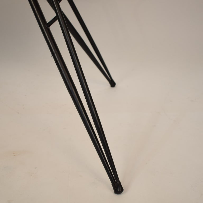 Midcentury Italian Black and White Dining Table Attributed to Ico Parisi, 1958 For Sale 1