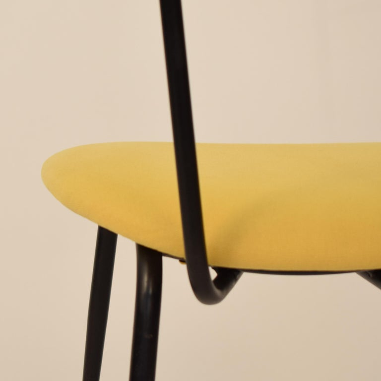 Midcentury Italian Black and Yellow Dining Chairs Attributed to Ico Parisi, 1958 For Sale 6