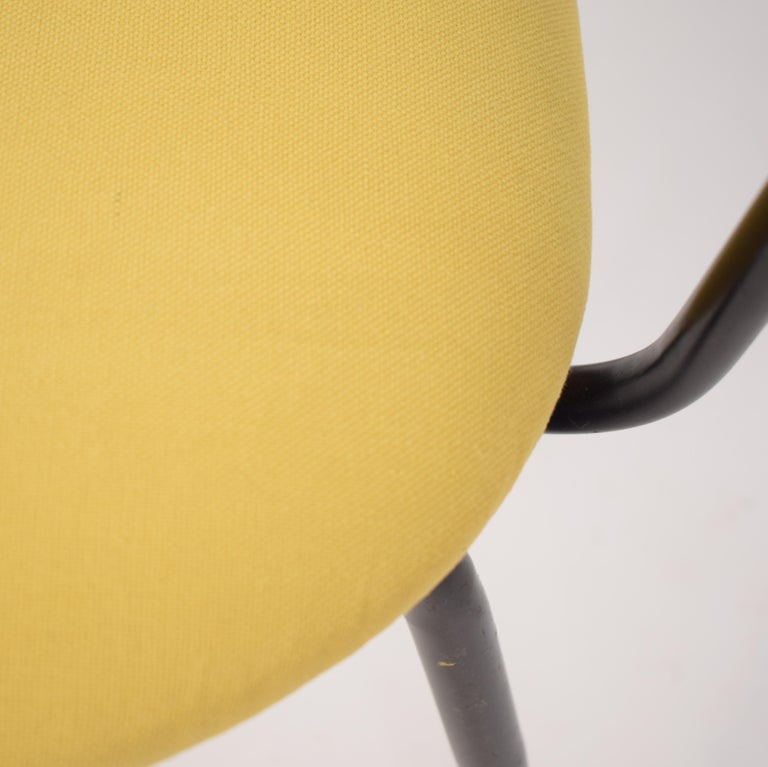 Midcentury Italian Black and Yellow Dining Chairs Attributed to Ico Parisi, 1958 For Sale 9