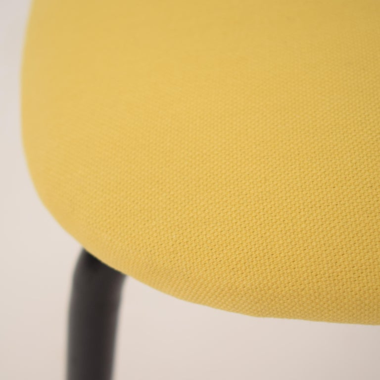 Midcentury Italian Black and Yellow Dining Chairs Attributed to Ico Parisi, 1958 For Sale 1