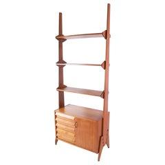 Midcentury Italian Bookcase in Teak
