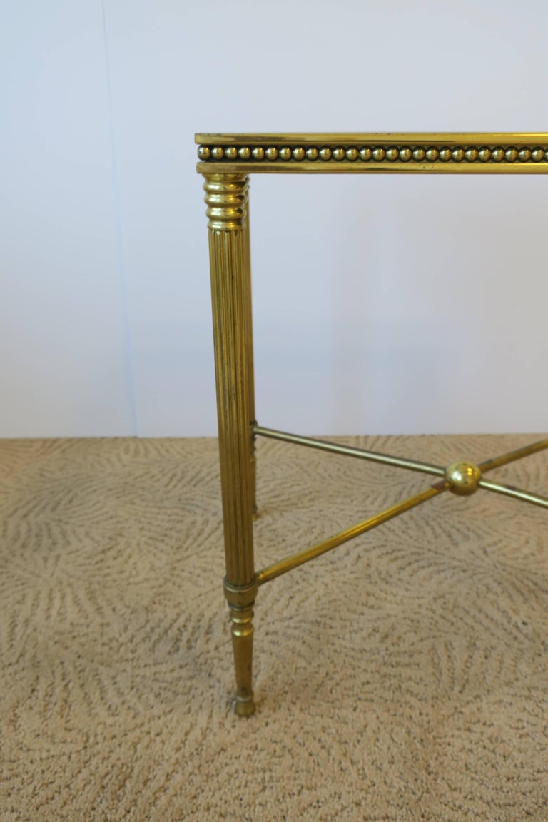 Midcentury Italian Brass and Glass End or Side Table For Sale 7
