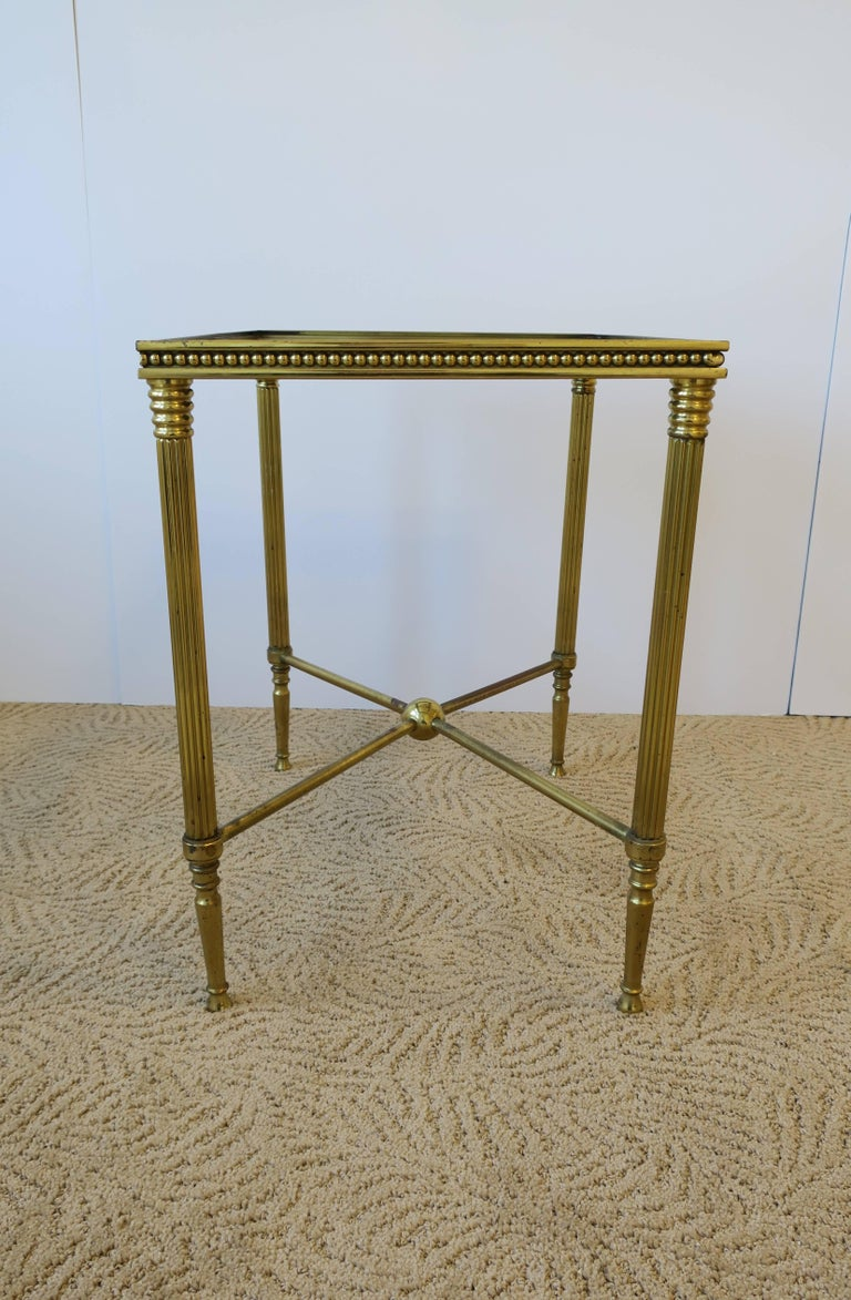 Midcentury Italian Brass and Glass End or Side Table For Sale 3