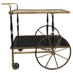Midcentury Italian Brass Bar Cart by Morex