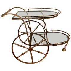 Midcentury Italian Brass Bar Cart
