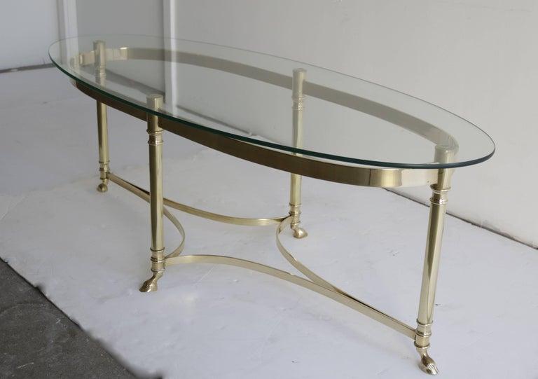 Mid-Century Modern Midcentury Italian Brass Coffee Table For Sale