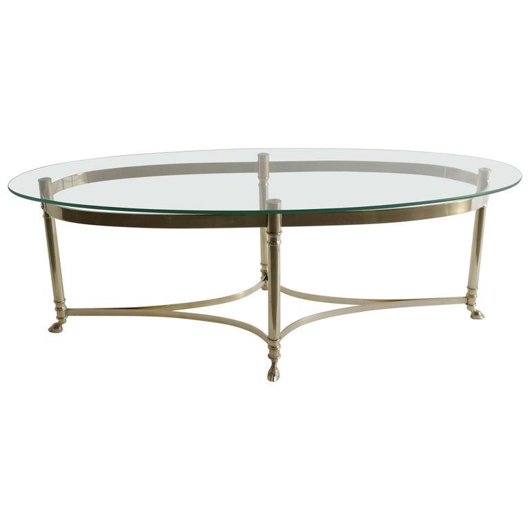 Midcentury Italian Brass Coffee Table For Sale