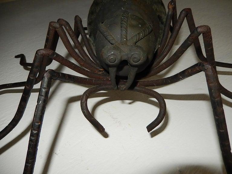 Murano Glass Midcentury Italian Brutalist Spider Light Green Glass Body Sconce