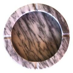 Midcentury Italian Carrara Marble Ashtray