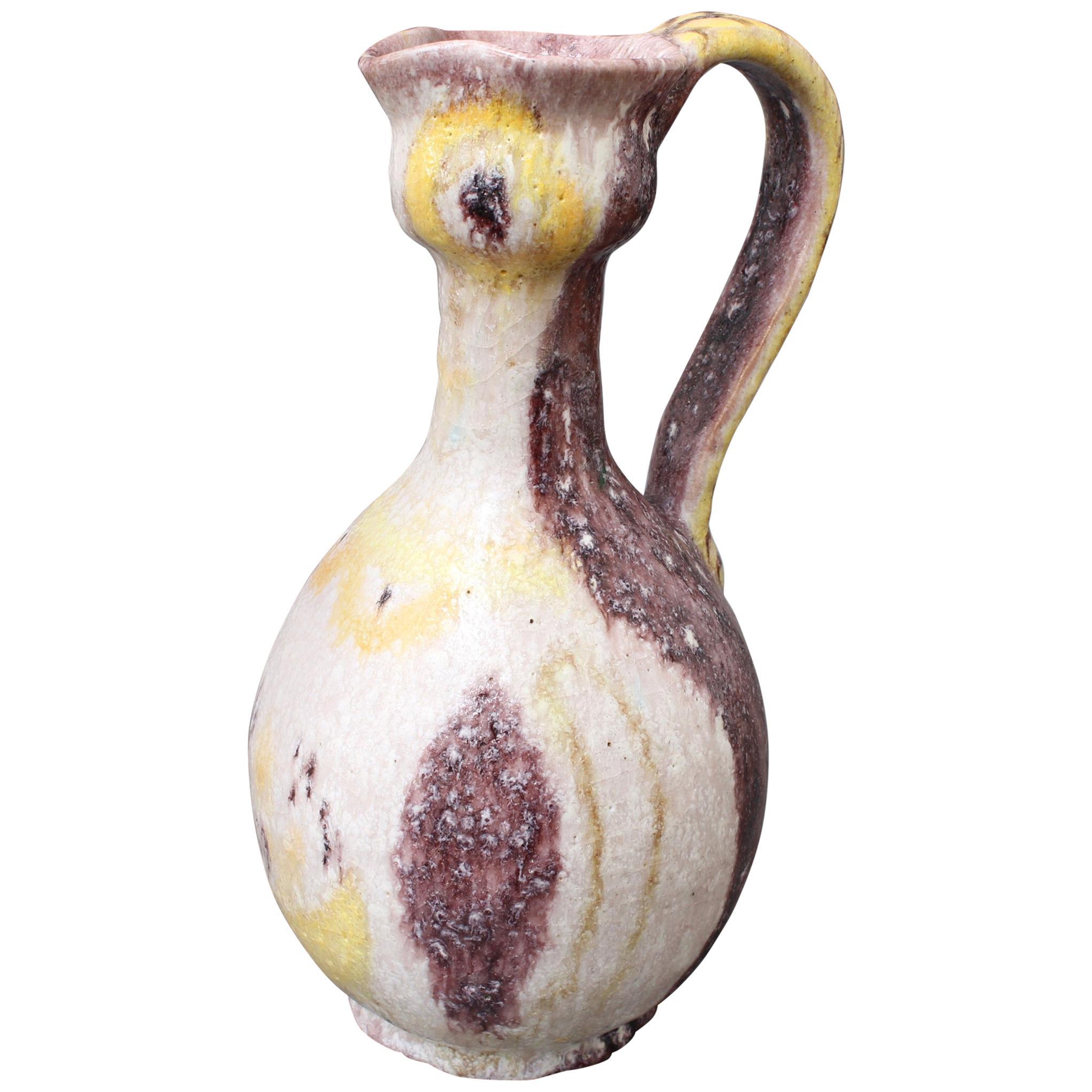 Midcentury Italian Ceramic Pitcher by Guido Gambone, circa 1950s