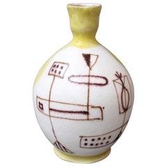 Midcentury Italian Ceramic Vase by Guido Gambone, 'circa 1950s'