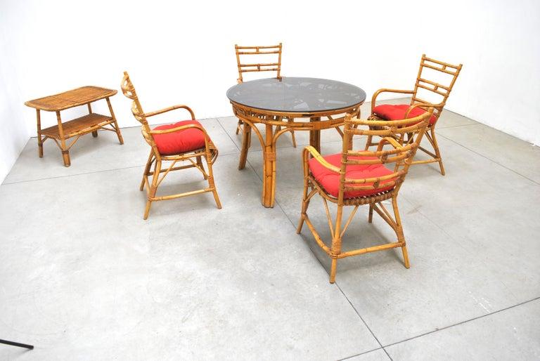 Midcentury Italian Chairs in Bambù, 1960s 4