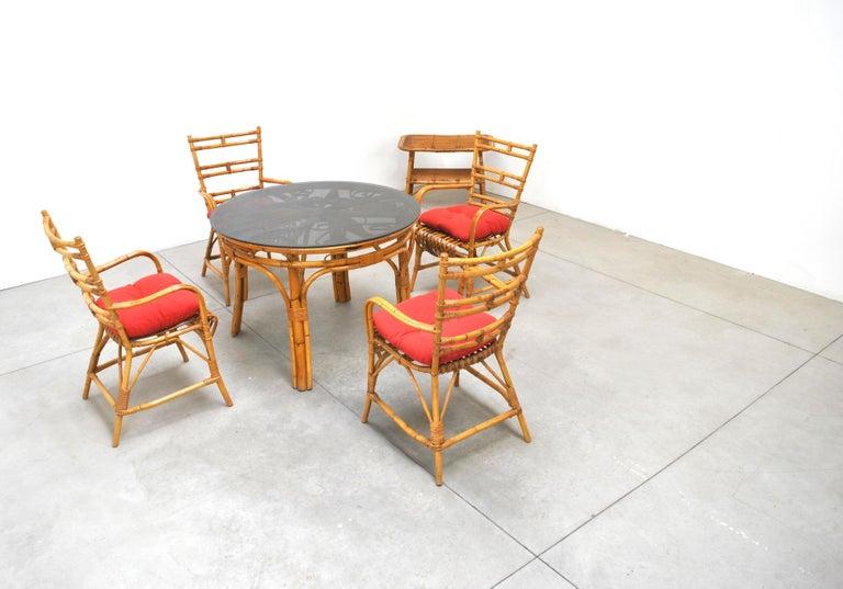 Midcentury Italian Chairs in Bambù, 1960s 5
