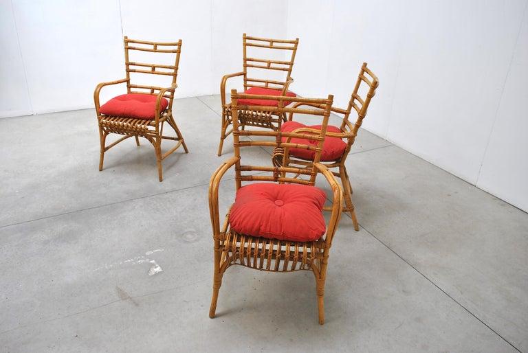 Mid-Century Modern Midcentury Italian Chairs in Bambù, 1960s